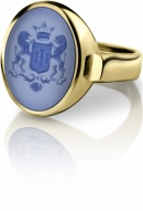 Siegelring signet rings Gelbgold Familienwappen