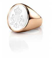 Siegelring signet rings Oval Roségold weiss
