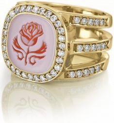 Siegelring Diamant diamond rings Gelgold Rose