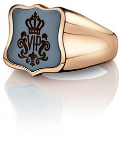Siegelring signet rings Wappen Roségold VIP